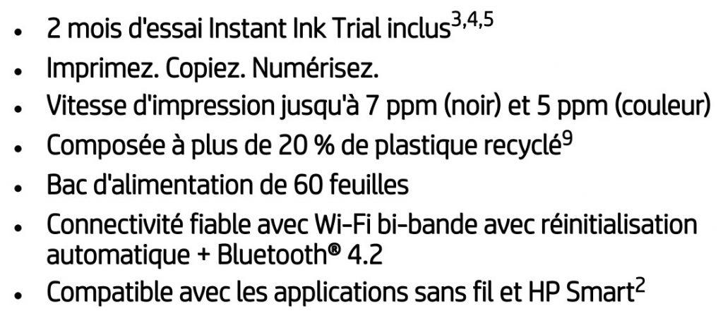 Les points forts de l'imprimante HP Deskjet 2710